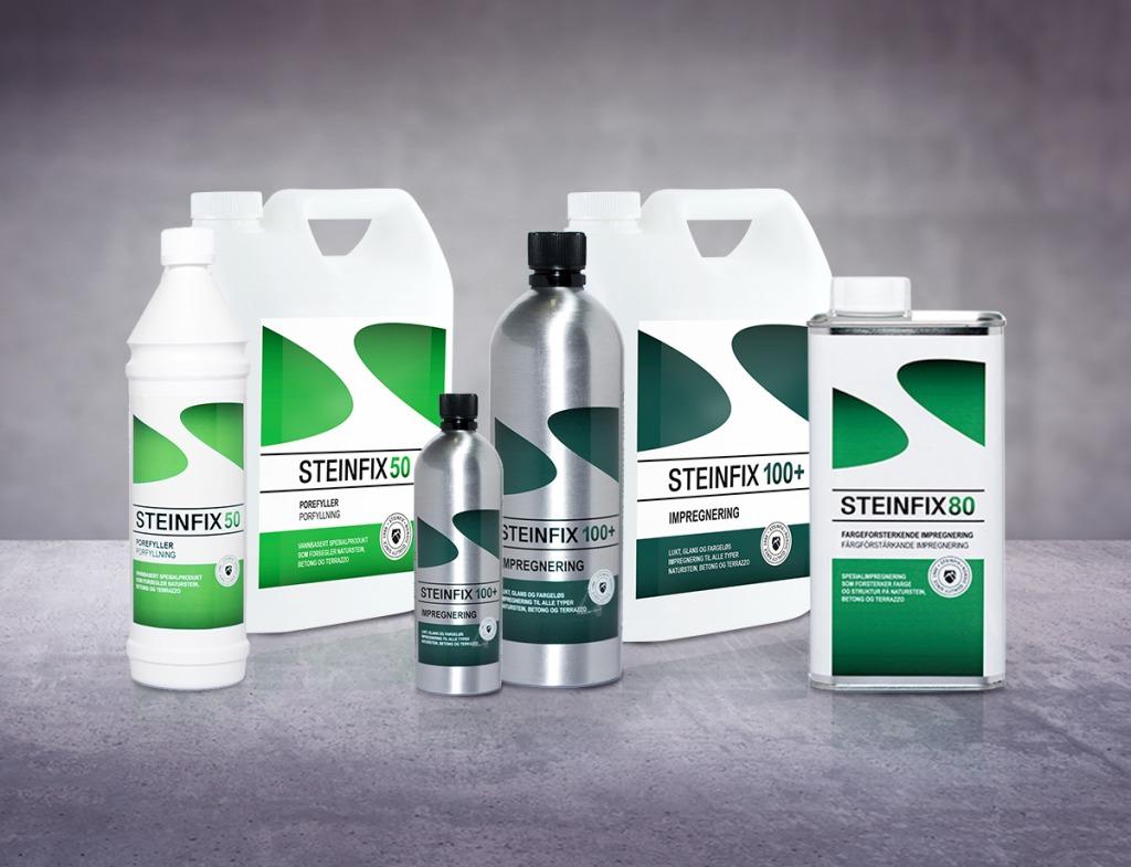 steinfix produkter impregnering og porefylling foto